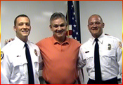 President Jim Bast with his 2 Florida firefighter sons.